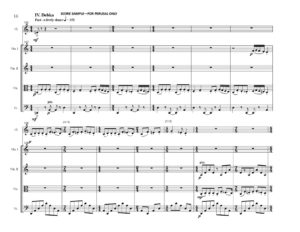 thumbnail of Preludes and Debka (Clarinet & String Quartet) Score sample