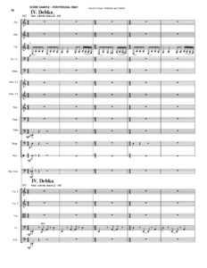 thumbnail of Preludes and Debka (Trombone & Orchestra) Score sample