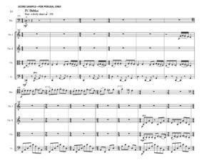 thumbnail of Preludes and Debka (Trombone & String Quartet) Score sample