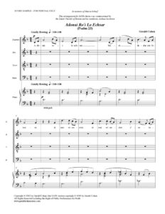 thumbnail of Adonai Ro'i (SATB & piano) score sample